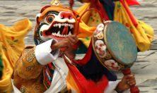 Bhutan, mask dance Tsechu