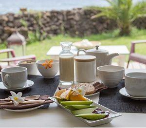 Cile isola di Pasqua la Perouse breakfast