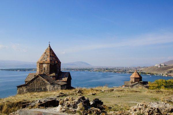 Armenia Sevan lake view