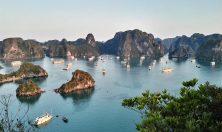 Vietnam Halong bay aereal